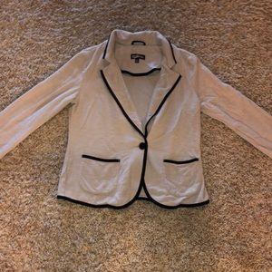 Beige/black cotton blazer, size M
